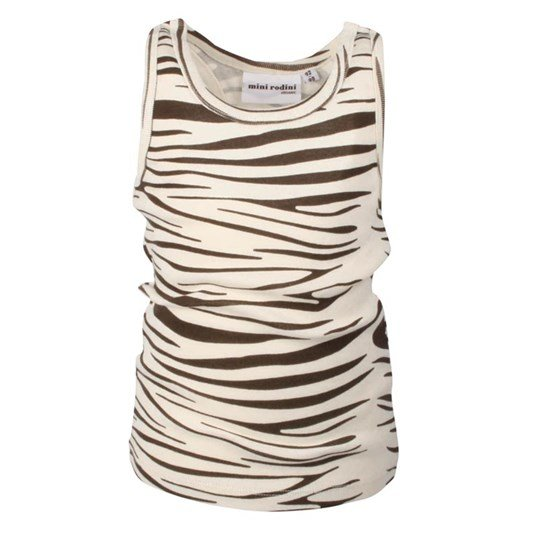 Mini Rodini Racerback Tank Zebra BROWN