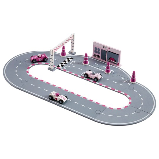 Kids Concept Racing Car Set Pink Pink