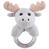 Kids Concept Moose Character Teething Rattle Musta