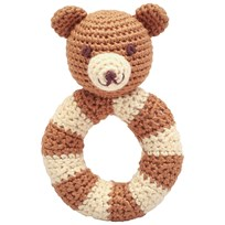 natureZOO Mr. Teddy Ring Rattle Brown