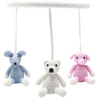 natureZOO Circle Mobile Mrs. Rabbit, Mr. Elephant and Sir. Polar Bear Multi