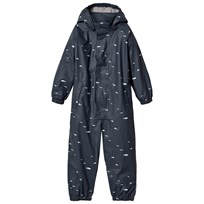 Mini A Ture The Reinis Lined Rain Suit M Ombre Blue Print ombre blue