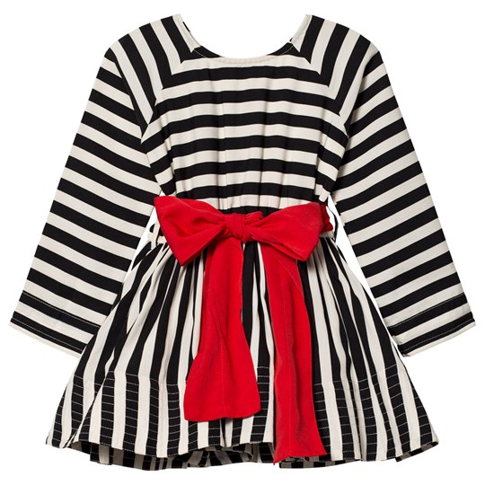How To Kiss A Frog Adele Dress Stripe Blk/wht Stripe Blk/wht