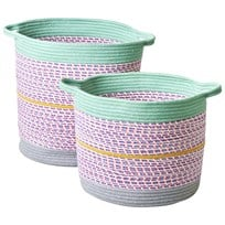 RICE A/S Round Rope Storage Basket, Multicolor Multicolor