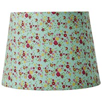 RICE A/S Medium Lampshade Mint Small Floral Printed Fabric Mint/Flowers