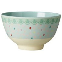 RICE A/S Small Melamine Bowl with Raindot Print Multi