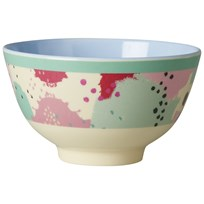 Rice Small Melamine Bowl with Splash Print Multi