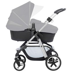 Silver Cross Pioneer Duo Stroller Chrome Chassi and Black Carrycot/Seat