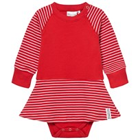 Geggamoja Baby Body Dress Red/White Red/White
