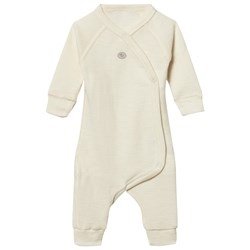 Lillelam Premature Wool Wrap One-Piece Off-White