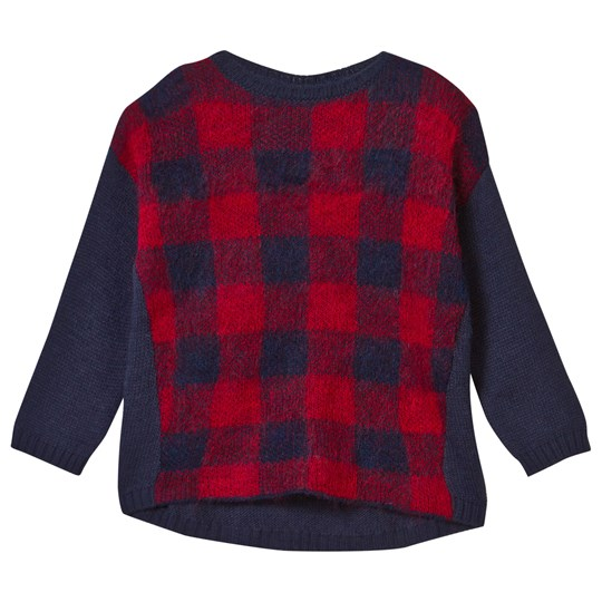 United Colors of Benetton Sweater L/S Navy Red Navy Red