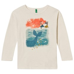 United Colors of Benetton Whale Print T-Shirt White