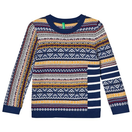 United Colors of Benetton Sweater L/S Navy Multi NAVY MULTI