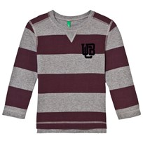 United Colors of Benetton Striped T-Shirt Burgundy/Grey Burgundy Grey