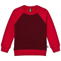 United Colors of Benetton Raglan Sweater Red/Black Rød