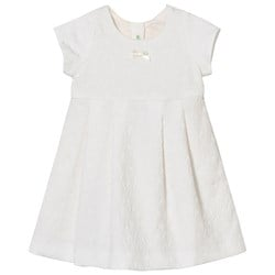 United Colors of Benetton Jacquard Dress Off White