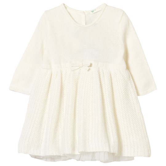 United Colors of Benetton Wool/Cashmere Knit Dress Creamy White Cream
