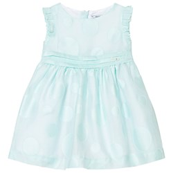 Mayoral Mint Circle Detail Voile Dress