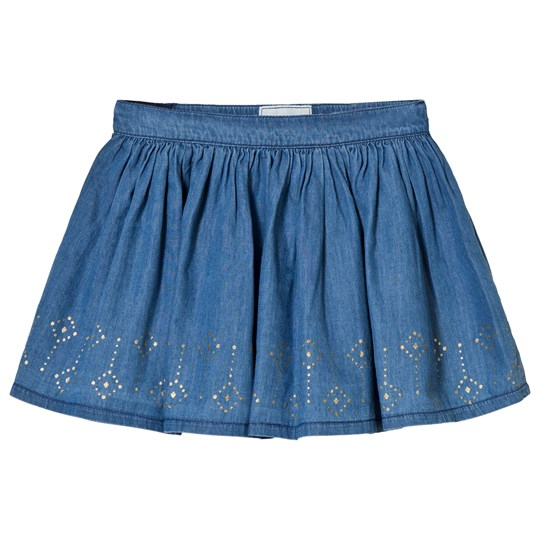 Mayoral Chambray Jersey Studded Skirt 5