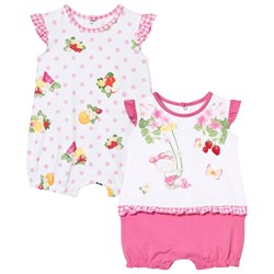 Mayoral Bear and Floral Rompers 2-Pack