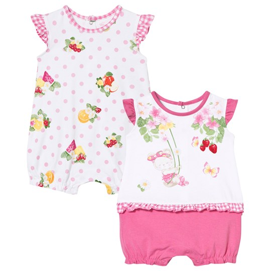 Mayoral Bear and Floral Rompers 2-Pack 58