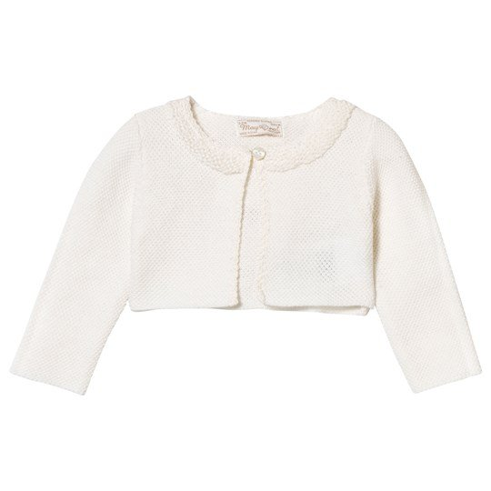 Mayoral Cream Textured Knit Bolero 14