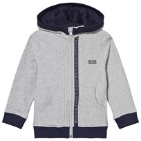 BOSS Grey Branded Hoody A33