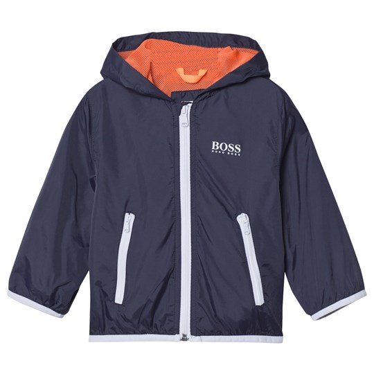 BOSS Navy and White Packaway Hooded Jacket 849