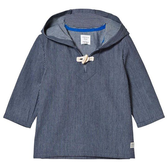 Carrément Beau Navy Woven Hooded Nautical Smock Z28
