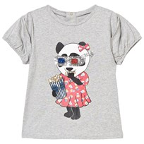 Little Marc Jacobs Grey Panda Eating Print Tee A22