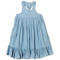 Stella McCartney Kids Poco Pleated Halter Neck Dress Blue 4961