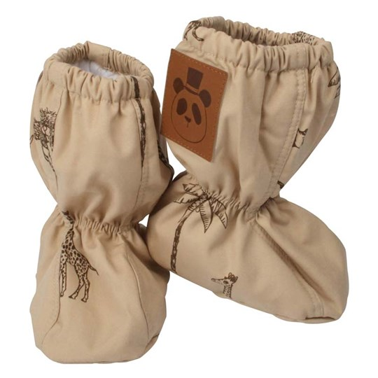 Mini Rodini Booties Safari Khaki Beige