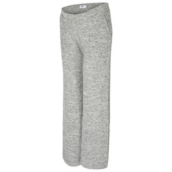 Mamalicious Knit Lounge Pants Light Grey Melange