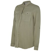 Mamalicious Woven Military Shirt Vetiver Vetiver