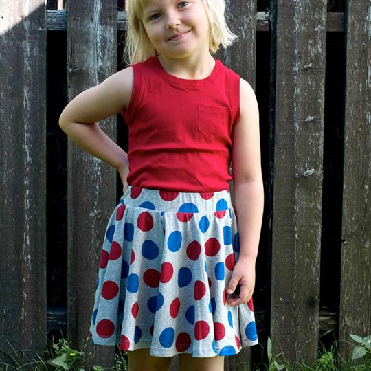 ebbe Kids Bella Skirt Blue/Red Dot Black