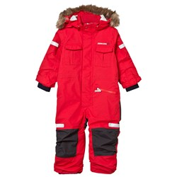 Didriksons Migisi Kid's Coverall Tomato Red