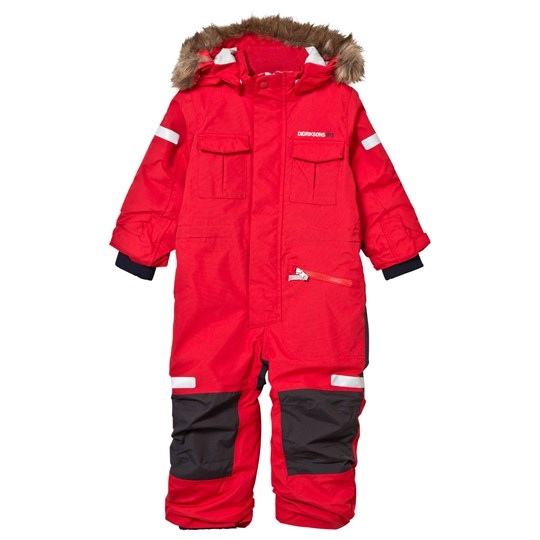 Didriksons Migisi Kid's Coverall Tomato Red Tomato red