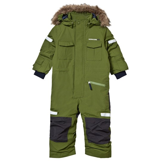 Didriksons Migisi Kid's Coverall Turtle Green Turtle gre