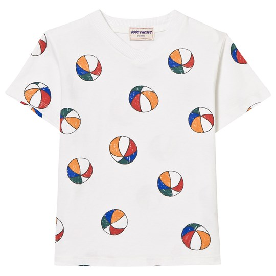 Bobo Choses Basket Ball V-Neck T-Shirt Off White Off white