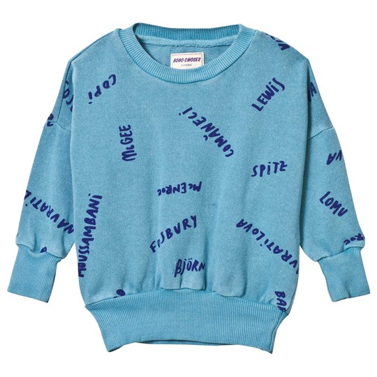 Bobo Choses The Legends Sweatshirt Turquoise Blue Turquoise Blue