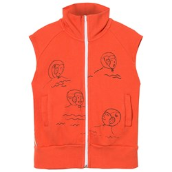 Bobo Choses Waterpolo Zip Vest Red Clay