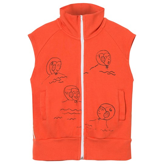 Bobo Choses Waterpolo Zip Vest Red Clay Red Clay