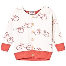 Bobo Choses Knit Cardigan The Cyclist Off White