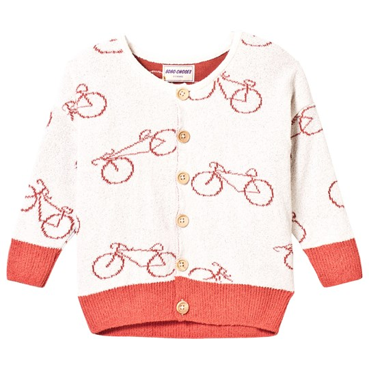 Bobo Choses Knit Cardigan The Cyclist Off White Off white