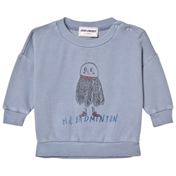 Bobo Choses Mr. Badminton Baby Sweatshirt Cloud Blue