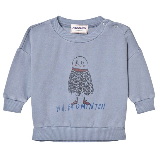 Bobo Choses Mr. Badminton Baby Tröja Cloud Blue cloud blue