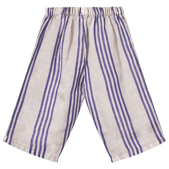Bobo Choses Striped Baby Trousers Chateau Grey Chateau Gray