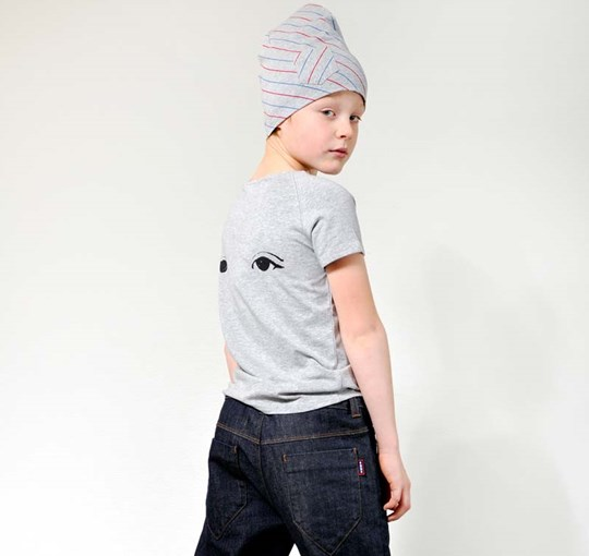ebbe Kids Bono T-shirt Grey Eye Print Black