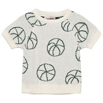 Bobo Choses Basket Ball Baby Knit Sweater Off White Off white