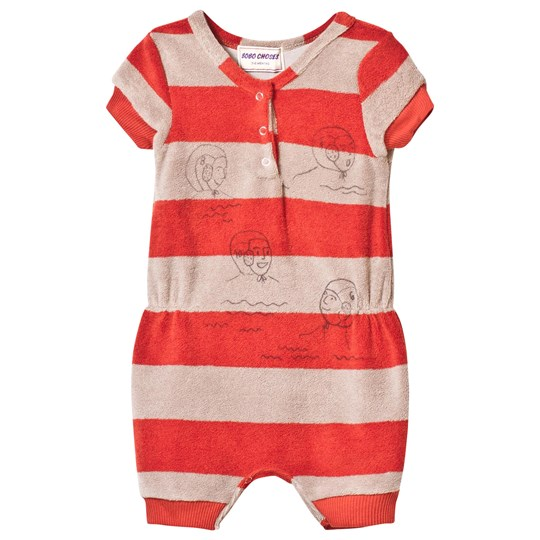 Bobo Choses Striped Terry Jumpsuit Waterpolo Red Clay Red Clay